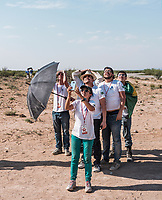 A team from Brazil reacts after it's team rocket launch at the Spaceport America Cup near the town of Truth or Consequences, New Mexico, Friday, June 23, 2017. The International Intercollegiate Rocket Engineering Competition hosted over 110 teams from colleges and universities in eleven countries. Students launched solid, liquid, and hybrid rockets to target altitudes of 10,000 and 30,000 feet. The 2017 Spaceport America Cup winner was the University of Michigan, Ann Arbor, Team 79.<br /> <br /> Photo by Matt Nager