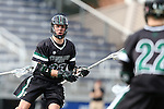 12 February 2017: CSU's Noah Gleeson. The Duke University Blue Devils hosted the Cleveland State University Vikings at Koskinen Stadium in Durham, North Carolina in a 2017 Division I College Men's Lacrosse match. Duke won the game 22-7 in overtime.