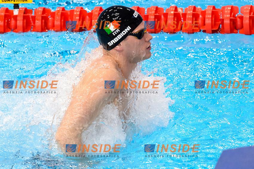 Simone SABBIONI ITA <br /> 50m Backstroke Men Preliminary <br /> London, Queen Elizabeth II Olympic Park Pool <br /> LEN 2016 European Aquatics Elite Championships <br /> Swimming<br /> Day 10 18-05-2016<br /> Photo Andrea Staccioli/Deepbluemedia/Insidefoto