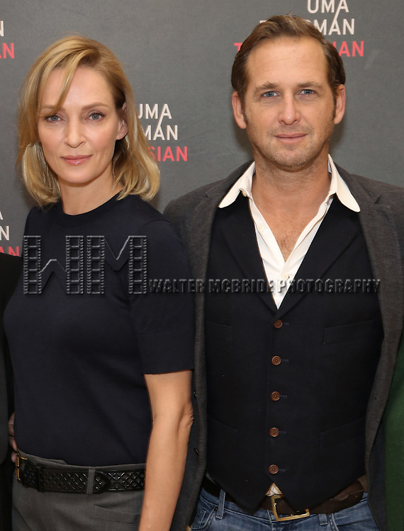 Uma Thurman and Josh Lucas attend the Meet & Greet Photo Call for the cast of Broadways 'The Parisian Woman' at the New 42nd Street Studios on October 18, 2017 in New York City.