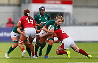 9th February 2020; Energia Park, Dublin, Leinster, Ireland; International Womens Rugby, Six Nations, Ireland versus Wales; Dorothy Wall of Ireland breaks through the tackle