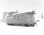 D&amp;RGW long caboose #0540 in Durango in snow.<br /> D&amp;RGW  Durango, CO  Taken by Payne, Andy M. - 12/27/1968