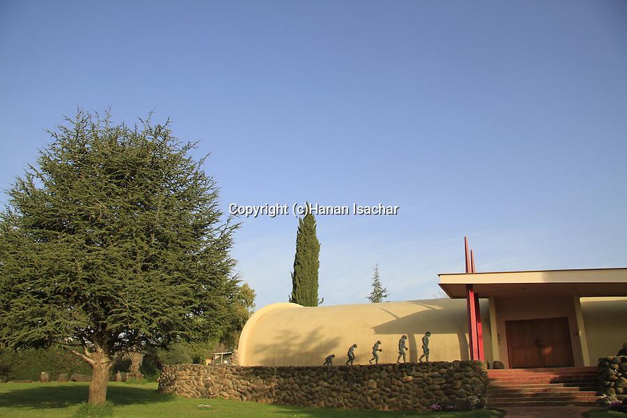 Israel, Upper Galilee, the Prehistoric Man Museum in Kibbutz Maayan Baruch