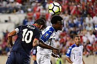 Harrison, NJ - Friday July 07, 2017: Bryan Ruiz, Félix Crisanto during a 2017 CONCACAF Gold Cup Group A match between the men's national teams of Honduras (HON) vs Costa Rica (CRC) at Red Bull Arena.