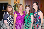 CHRISTMAS LADIES: Enjoying a great time at the Ballygarry hotel Women's Christmas Party on Thursday l-r: Maureen McElligott, Siobhan Breen, Marioata Quirke and Emma Walsh..