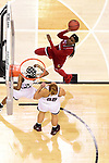 COLUMBUS, OH - MARCH 30: Dana Evans #1 of the Louisville Cardinals shoots over Zion Campbell #25 of the Mississippi State Bulldogs and Chloe Bibby #55 of the Mississippi State Bulldogs during a semifinal game of the 2018 NCAA Division I Women's Basketball Final Four at Nationwide Arena in Columbus, Ohio. (Photo by Ben Solomon/NCAA Photos via Getty Images)
