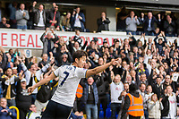 Son Heung-Min of Tottenham Hotspur celebrates scoring his side's second goal during the Premier League match between Tottenham Hotspur and Bournemouth at White Hart Lane, London, England on 15 April 2017. Photo by Mark  Hawkins / PRiME Media Images.