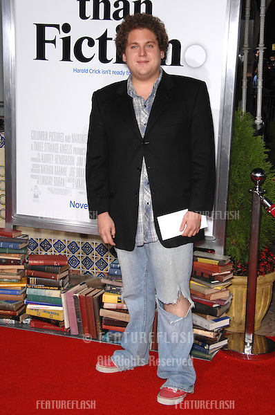 """JONAH HILL at the Los Angeles premiere of """"Stranger than Fiction""""..October 30, 2006  Los Angeles, CA.Picture: Paul Smith / Featureflash"""
