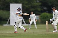 R Patel of Rainham during Bentley CC (Bowling) vs Rainham CC, T Rippon Mid Essex Cricket League Cricket at Coxtie Green Road on 9th June 2018