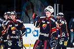 Stockholm 2013-12-28 Ishockey Hockeyallsvenskan Djurg&aring;rdens IF - Almtuna IS :  <br /> Djurg&aring;rden m&aring;lvakt Johan Mattsson och Djurg&aring;rden M&aring;ns Kr&uuml;ger Kruger  deppar efter matchen<br /> (Foto: Kenta J&ouml;nsson) Nyckelord:  depp besviken besvikelse sorg ledsen deppig nedst&auml;md uppgiven sad disappointment disappointed dejected