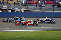 10/19/13 Fontana, CA:  l to  Jr Hilebrand, Alex Tagliani, Josef Newgarden during the MAVTV 500 held at the Auto Club Speedway.