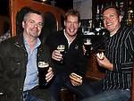 Brendan Clinton, Eddie and Vinny Smith celebrating Arthur's day in McPhail's. Photo: Colin Bell/pressphotos.ie