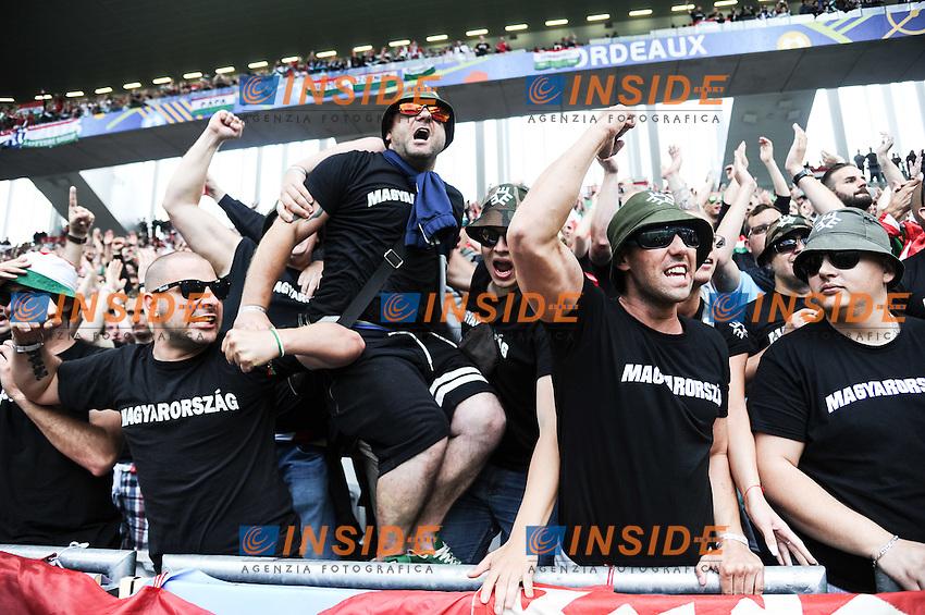Supporters Hungary Ungheria <br /> Bordeaux 14-06-2016 Stade de Bordeaux Footballl Euro2016 Austria - Hungary / Austria - Ungheria Group Stage Group F. Foto Thierry Breton / Panoramici / Insidefoto