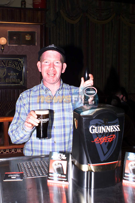 Brendan 'Rusty' Sherry, who won the Guinness Perfect Pint promotion in the Avenue Inn Bar in Dundalk..Contact: 086 8328617 or 042 9335886.Picture: Paddy Power/Newsfile