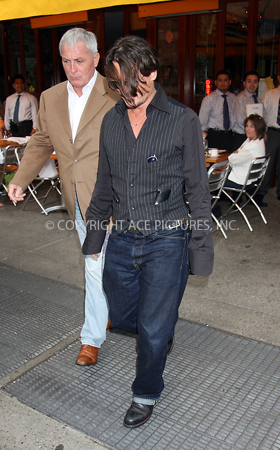 WWW.ACEPIXS.COM ************....June 27 2009, New York City....Actor Johnny Depp leaves Da Silvano restauant in Soho on June 27 2009 in New York City....Please byline: PHILIP VAUGHAN - ACEPIXS.COM.. *** ***  ..Ace Pictures, Inc:  ..tel: (646) 769 0430..e-mail: info@acepixs.com..web: http://www.acepixs.com