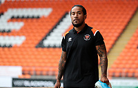 Blackpool's Sean Scannell arrives at Bloomfield Road<br /> <br /> Photographer Alex Dodd/CameraSport<br /> <br /> EFL Leasing.com Trophy - Northern Section - Group G - Blackpool v Morecambe - Tuesday 3rd September 2019 - Bloomfield Road - Blackpool<br />  <br /> World Copyright © 2018 CameraSport. All rights reserved. 43 Linden Ave. Countesthorpe. Leicester. England. LE8 5PG - Tel: +44 (0) 116 277 4147 - admin@camerasport.com - www.camerasport.com