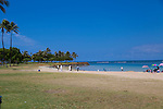 Ala Moana Beach Park in downtown Honolulu, Hawaii