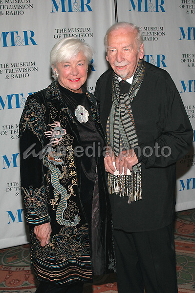26 May 2005 - New York, New York - the legendary Skitch Henderson and his wife Ruth arrive at The Museum of Television and Radio's Annual Gala where Merv Griffin is being honored for his award winning career in radio and television.<br />Photo Credit: Patti Ouderkirk