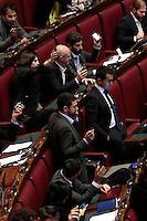 Il M5S per protesta fa squillare il telefono del ministro<br /> Roma 20-11-2013 Camera. Mozione di sfiducia nei confronti del Ministro della Giustizia.<br /> Lower Chamber. Some deputies asked the Justice Minister to resign.<br /> Photo Samantha Zucchi Insidefoto