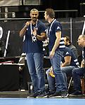 11.01.2019, Mercedes Benz Arena, Berlin, GER, BRA vs. FRA, im Bild <br /> Coach Didier Dinart (FRA), Spielerbank<br /> <br />      <br /> Foto &copy; nordphoto / Engler