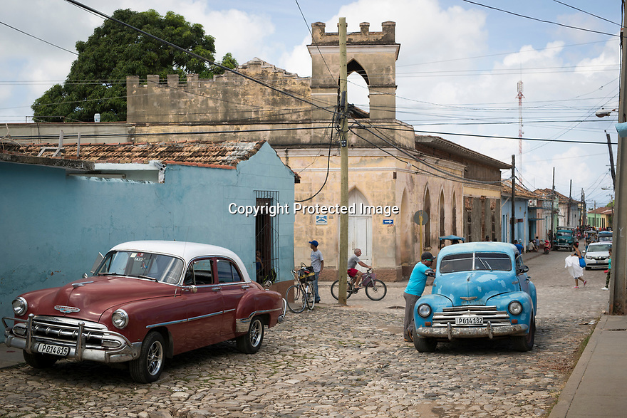 27/07/18<br /> <br /> Old American cars from the 1950s, Trinidad, Cuba.<br /> <br /> All Rights Reserved, F Stop Press Ltd. (0)1335 344240 +44 (0)7765 242650  www.fstoppress.com rod@fstoppress.com