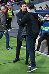 Atletico de Madrid coach Diego Pablo Simeone and Elche coach Jose Joaquin Moreno during return match of King's Cup between Atletico de Madrid and Elche CF at Wanda Metropolitano Stadium in Madrid, Spain. November 29, 2017. (ALTERPHOTOS/Borja B.Hojas)