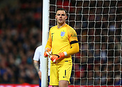 27th March 2018, Wembley Stadium, London, England; International Football Friendly, England versus Italy; Goalkeeper Jack Butland of England takes refreshment during a break in play
