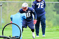 June 7, 2017: New England Patriots defensive lineman Trey Flowers (98) works with a tackle dummy at the New England Patriots mini camp held on the practice field at Gillette Stadium, in Foxborough, Massachusetts. Eric Canha/CSM