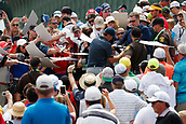 June 14th 2017, Erin, Wisconsin, USA; Jordan Spieth signs autographs after finishing on the 18th hole during the practice round for the 117th US Open on June 14, 2017 at Erin Hills in Erin, Wisconsin