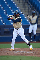 AZL Brewers Gold Francis Florentino (26) at bat during an Arizona League game against the AZL Brewers Blue on July 13, 2019 at American Family Fields of Phoenix in Phoenix, Arizona. The AZL Brewers Blue defeated the AZL Brewers Gold 6-0. (Zachary Lucy/Four Seam Images)