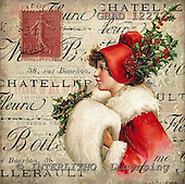 Addy, CHRISTMAS CHILDREN, paintings,+vintage, woman, women,++++,GBAD122723,#XK# Weihnachten, nostalgisch, Navidad, nostálgico, illustrations, pinturas