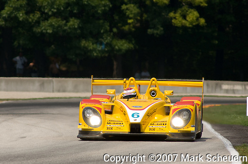 10 August 2007: Ryan Briscoe (AUS) in the Penkse Motorsports RS Spyder at the Generac 500 at Road America, Elkhart Lake, WI