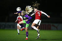 Danielle van de Donk of Arsenal and Poppy Pattinson of Bristol during Arsenal Women vs Bristol City Women, FA Women's Super League Football at Meadow Park on 14th March 2019