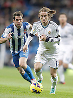 Real Madrid's Luka Modric during La Liga match. December 16, 2012. (ALTERPHOTOS/Alvaro Hernandez)