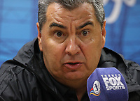 BOGOTA - COLOMBIA, 23-01-2018:Conferencia de prensa ofrecida por Jorge Da Silva director técnico del América de Cali  al finalizar el encuentro contra el Deportivo Cali , partido por el Torneo Fox Sports 2018 jugado en el estadio Nemesio Camacho El Campin de la ciudad de Bogotá. /Press conference offered by Jorge Da Silva coach of América de Cali at the end of the match against Deportivo Cali ,match for the Fox Sports Tournament 2018  played at Nemesio Camacho El Campin Stadium in Bogota city. Photo: VizzorImage / Felipe Caicedo / Staff.