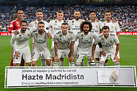 Real Madrid team group during the match between Real Madrid v Getafe CF of LaLiga, 2018-2019 season, date 1. Santiago Bernabeu Stadium. Madrid, Spain - 19 August 2018. Mandatory credit: Ana Marcos / PRESSINPHOTO