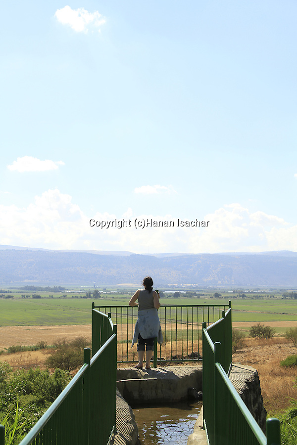 Israel, Upper Galilee, Ein Divsha in the Hula valley