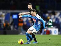 6th January 2020; Stadio San Paolo, Naples, Campania, Italy; Serie A Football, Napoli versus Inter Milan; Piotr Zielinski of Napoli turns away from a challenge