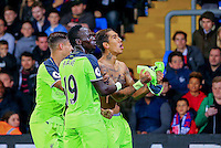 Roberto Firmino of Liverpool celebrates scoring his teams 4th goal during the EPL - Premier League match between Crystal Palace and Liverpool at Selhurst Park, London, England on 29 October 2016. Photo by Steve McCarthy.