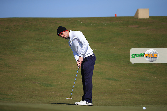 James Newton during Round Two of the West of England Championship 2016, at Royal North Devon Golf Club, Westward Ho!, Devon  23/04/2016. Picture: Golffile | David Lloyd<br /> <br /> All photos usage must carry mandatory copyright credit (&copy; Golffile | David Lloyd)