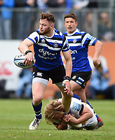Max Wright of Bath Rugby in possession. Gallagher Premiership match, between Bath Rugby and Wasps on May 5, 2019 at the Recreation Ground in Bath, England. Photo by: Patrick Khachfe / Onside Images