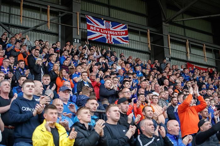 22.09.2019 St Johnstone v Rangers: Rangers fans applause on 2nd minute