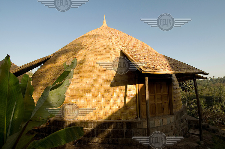 One of the traditional toukel houses where guests sleep, at the Aregash tourist centre near Awassa.