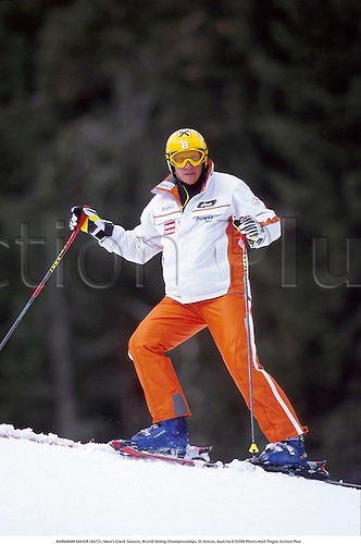 HARMANN MAIER (AUT)), Men's Giant Slalom, World Skiing Championships, St Anton, Austria 010208 Photo:Neil Tingle/Action Plus...2001.Winter Sports.winter sport.winter sports.wintersport.wintersports.alpine.ski.skier.man