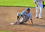 2 July 2011: Tri-City ValleyCats infielder Matthew Duffy in action against the Vermont Lake Monsters at Centennial Field in Burlington, Vermont. Duffy, a former University of Vermont Catamount baseball player, returns to Centennial Field for his first professional series against the home town Lake Monsters. The Monsters rallied from a 4-2 deficit to defeat the ValletCats 7-4 in NY Penn League action. Mandatory Credit: Ed Wolfstein Photo