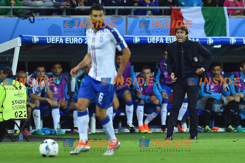 Antonio Conte Italy <br /> Lyon 13-06-2016 Stade de Lyon Footballl Euro2016 Belgium - Italy / Belgio - Italia Group Stage Group D. Foto Massimo Insabato  / Insidefoto