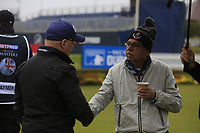 Keith Pelley CEO European Tour and Pawan Munjal during the Hero Pro-am at the Betfred British Masters, Hillside Golf Club, Lancashire, England. 08/05/2019.<br /> Picture Fran Caffrey / Golffile.ie<br /> <br /> All photo usage must carry mandatory copyright credit (© Golffile | Fran Caffrey)