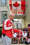 LONDON, ENGLAND 26/08/2012 - Gordon Campbell, Canadian High Commissioner to Great Britain, speaks to the athletes of Team Canada during a pep rally at Canada House at the London 2012 Paralympic Games. (Photo: Phillip MacCallum/Canadian Paralympic Committee)
