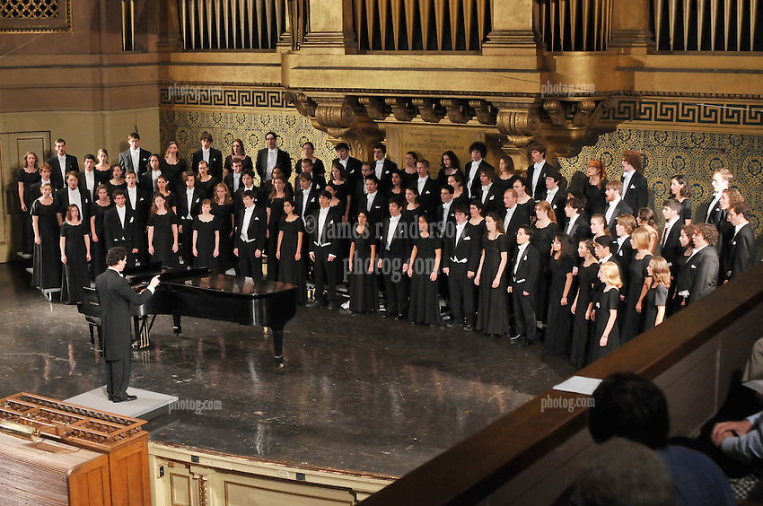 Image from the Yale Glee Club performing Parents Weekend Concert at Woolsey Hall, Yale University New Haven CT, on 25 October 2008