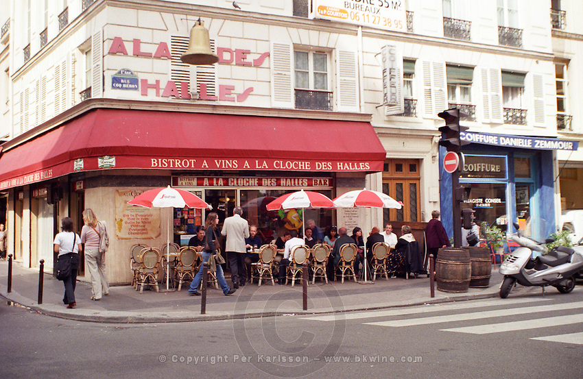 Wine bar and cafe A La Cloche des Halles in Paris Paris, France.